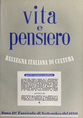 VITA E PENSIERO - 1950 - 9