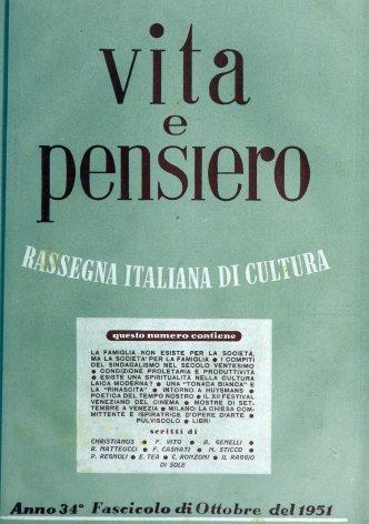 VITA E PENSIERO - 1951 - 10