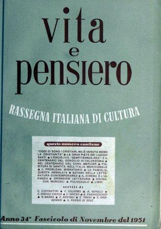 VITA E PENSIERO - 1951 - 11