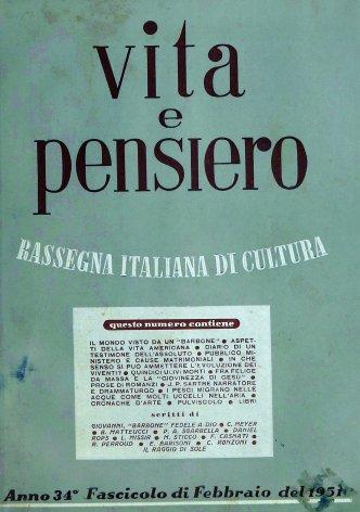 VITA E PENSIERO - 1951 - 2