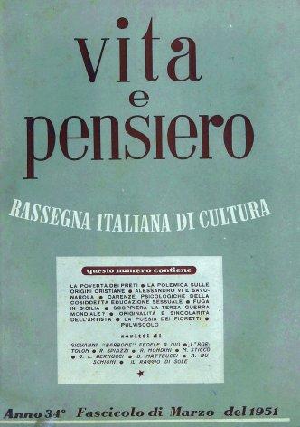 VITA E PENSIERO - 1951 - 3