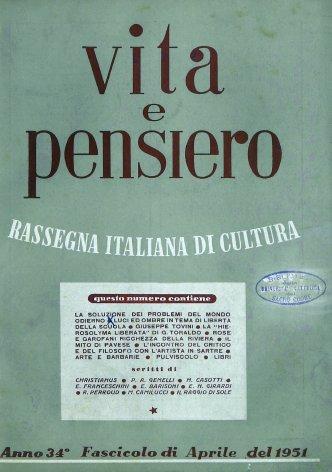 VITA E PENSIERO - 1951 - 4