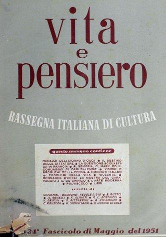 VITA E PENSIERO - 1951 - 5