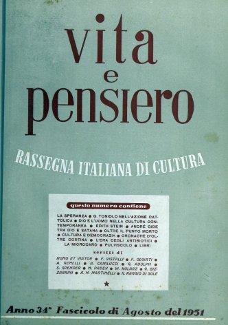 VITA E PENSIERO - 1951 - 8