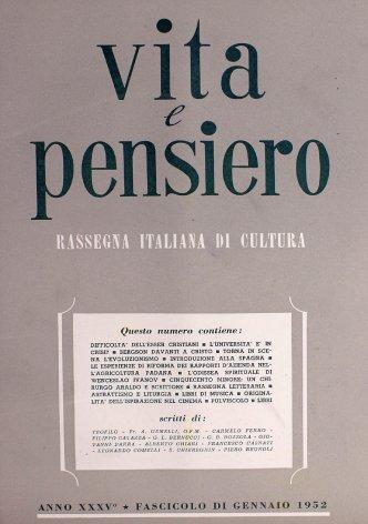 VITA E PENSIERO - 1952 - 1
