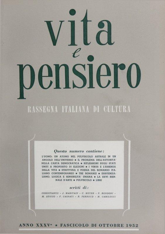 VITA E PENSIERO - 1952 - 10