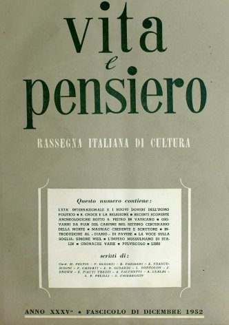 VITA E PENSIERO - 1952 - 12