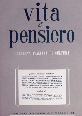 VITA E PENSIERO - 1952 - 3