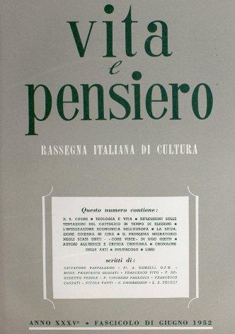 VITA E PENSIERO - 1952 - 6