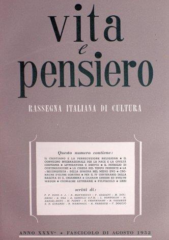 VITA E PENSIERO - 1952 - 8