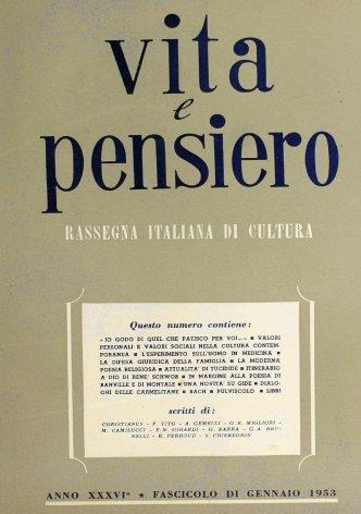 VITA E PENSIERO - 1953 - 1