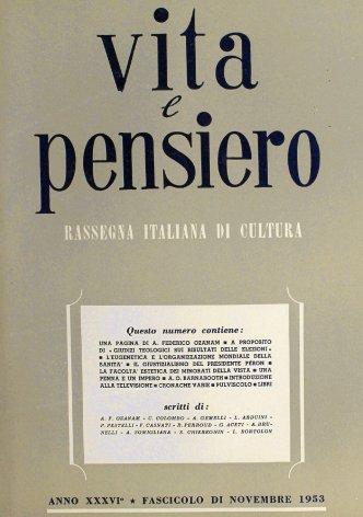 VITA E PENSIERO - 1953 - 11