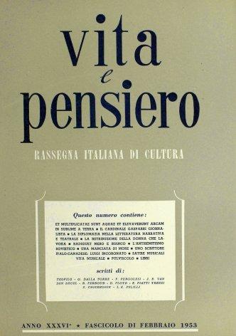 VITA E PENSIERO - 1953 - 2