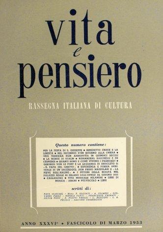 VITA E PENSIERO - 1953 - 3