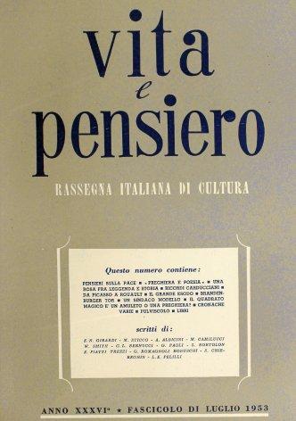 VITA E PENSIERO - 1953 - 7