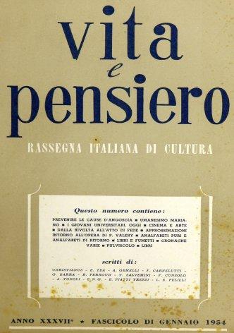 VITA E PENSIERO - 1954 - 1