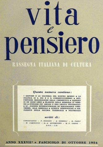VITA E PENSIERO - 1954 - 10