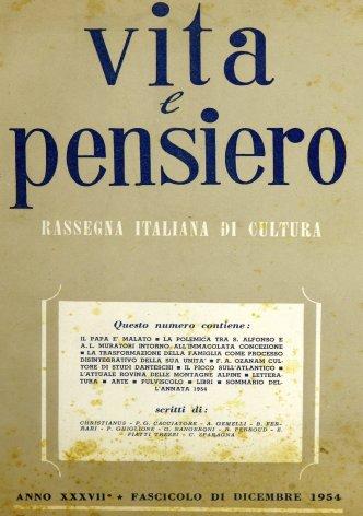 VITA E PENSIERO - 1954 - 12