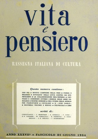 VITA E PENSIERO - 1954 - 6