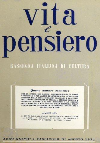 VITA E PENSIERO - 1954 - 8