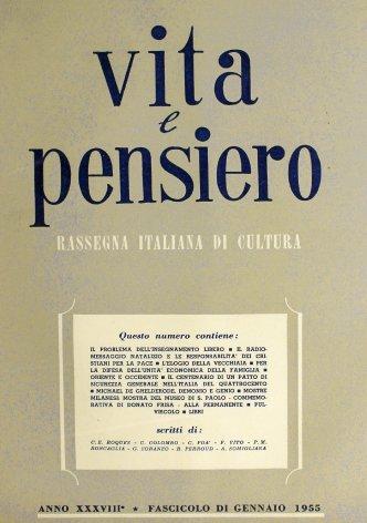 VITA E PENSIERO - 1955 - 1