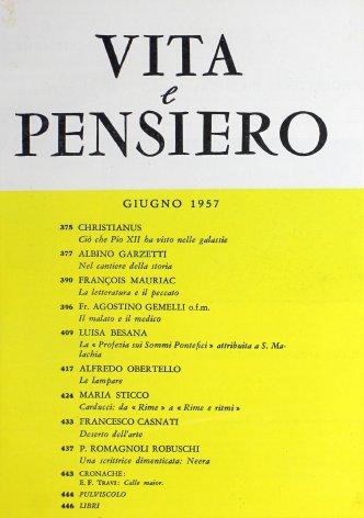 VITA E PENSIERO - 1957 - 6