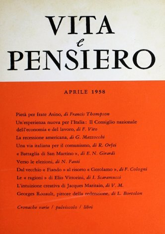 VITA E PENSIERO - 1958 - 4