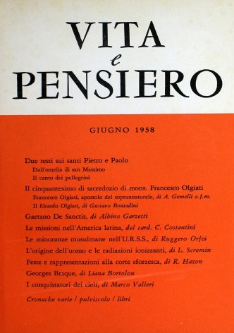 VITA E PENSIERO - 1958 - 6