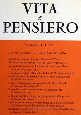 VITA E PENSIERO - 1959 - 12