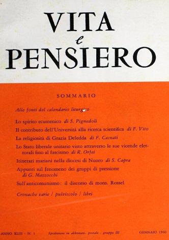 VITA E PENSIERO - 1960 - 1