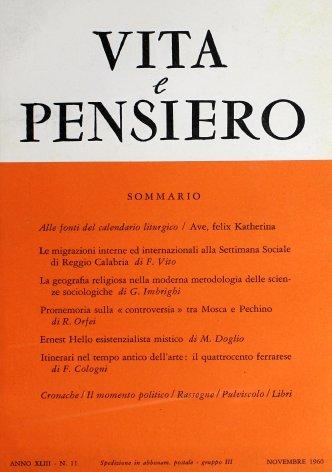 VITA E PENSIERO - 1960 - 11