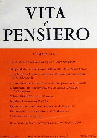 VITA E PENSIERO - 1960 - 2