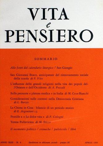 VITA E PENSIERO - 1960 - 4