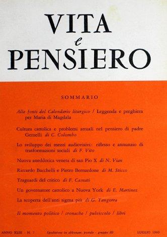VITA E PENSIERO - 1960 - 7