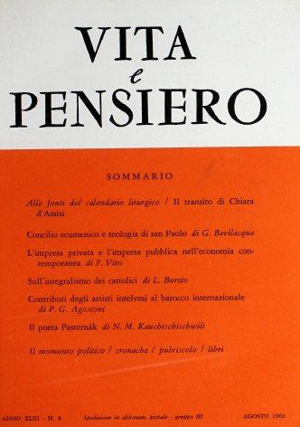 VITA E PENSIERO - 1960 - 8