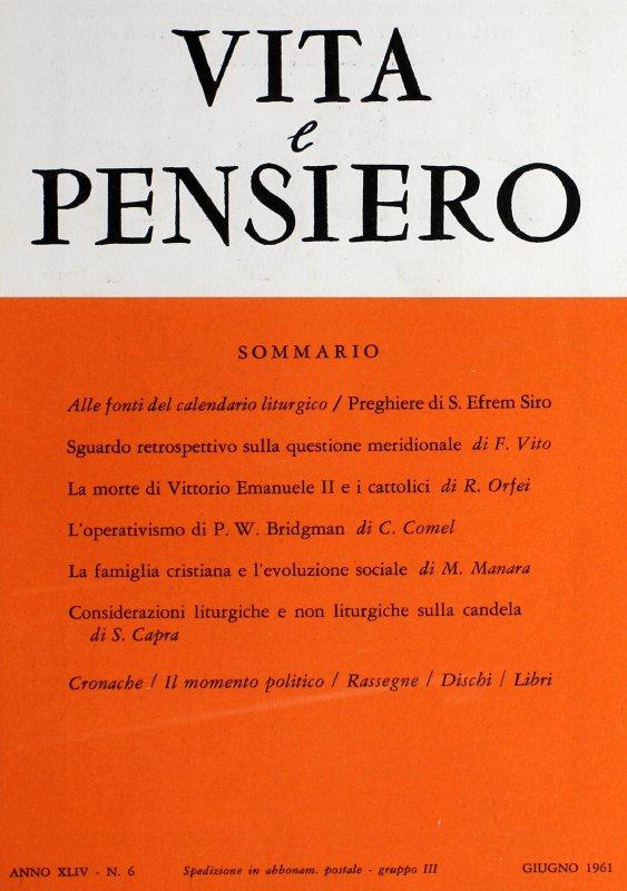 VITA E PENSIERO - 1961 - 6