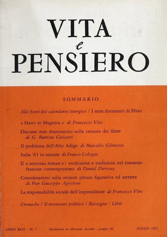 VITA E PENSIERO - 1961 - 7