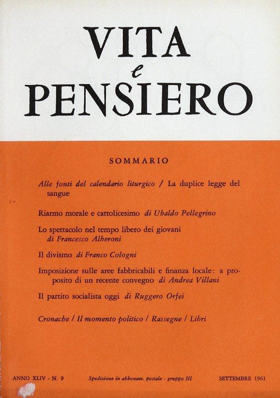 VITA E PENSIERO - 1961 - 9
