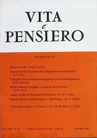 VITA E PENSIERO - 1962 - 10