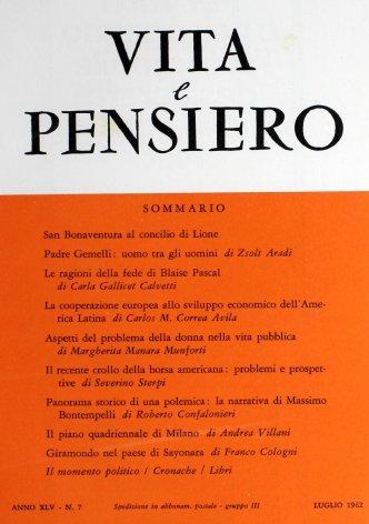 VITA E PENSIERO - 1962 - 7