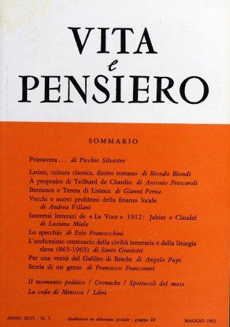 VITA E PENSIERO - 1963 - 5