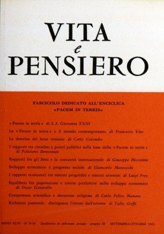 VITA E PENSIERO - 1963 - 9-10