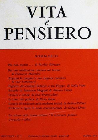VITA E PENSIERO - 1964 - 3