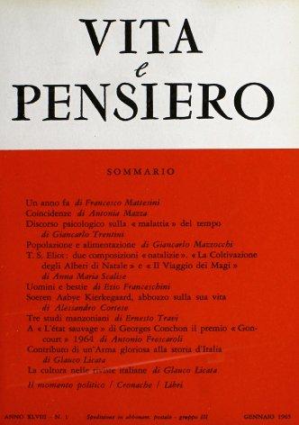 VITA E PENSIERO - 1965 - 1