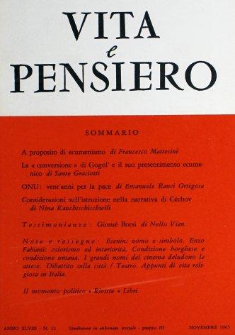 VITA E PENSIERO - 1965 - 11