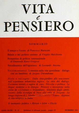 VITA E PENSIERO - 1965 - 12