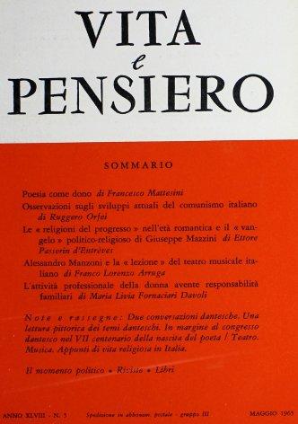 VITA E PENSIERO - 1965 - 5