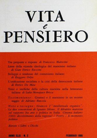 VITA E PENSIERO - 1966 - 2