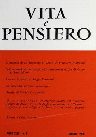 VITA E PENSIERO - 1966 - 6