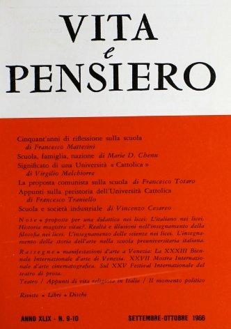 VITA E PENSIERO - 1966 - 9-10